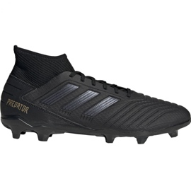 Adidas Predator 19.3 Fg M F35594 football shoes black black