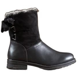 SHELOVET Warm Boots With Fur black