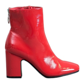 Seastar Varnished Ankle Boots red