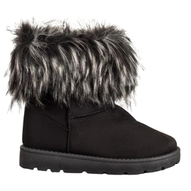 SHELOVET Black Mukluki With Fur