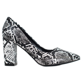 Seastar Snake Print pumps