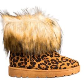 SHELOVET Mukluki With Leopard Print Fur