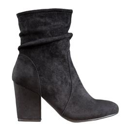 SHELOVET High Suede Boots black