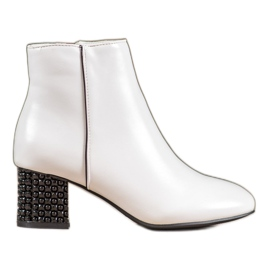 SHELOVET White Boots With A Decorative Heel