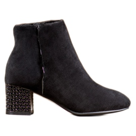 SHELOVET Boots With A Decorative Heel black