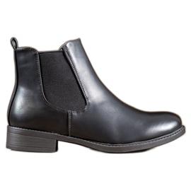 SHELOVET Classic Zipper Boots black