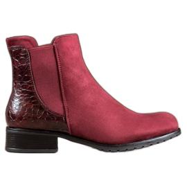 Erynn Burgundy Jodhpur boots Snake Print red