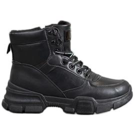 SHELOVET Ankle Boots On Fashion Platform black