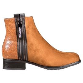 Erynn Boots With A Decorative Zipper brown