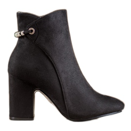 SHELOVET Ankle Boots With Cubic Zirconia black