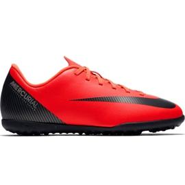 Nike Mercurial Vapor X 12 Club Gs CR7 Tf Jr AJ3106 600 football shoes red
