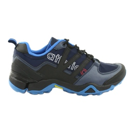 Atletico 8003 black sports shoes navy
