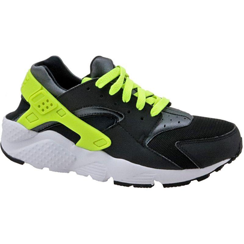 Nike Huarache Run Gs W shoes 654275-017 black yellow