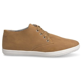 Fashionable High 3232 Camel Sneakers brown