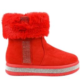 Insulated red suede Eskimos K-356