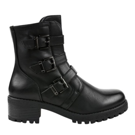 Black insulated high boots decorated 2012