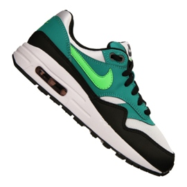 Nike Air Max 1 Gs Jr 807602-111 shoes black multicolored green