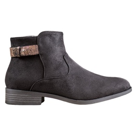 SHELOVET Boots With An Ornate Strap black