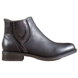 Small Swan Black Boots With Eco Leather