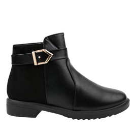 Black flat boots with insulated Jodhpur boots CH-22