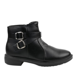 Black flat boots with insulated Jodhpur boots CH-21