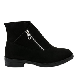 Black flat boots Jodhpur boots insulated 20195-2