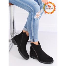 Black suede boots black 6332-1 Black