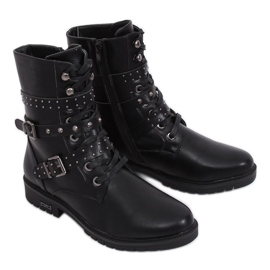 Military black boots 1952-11 Black