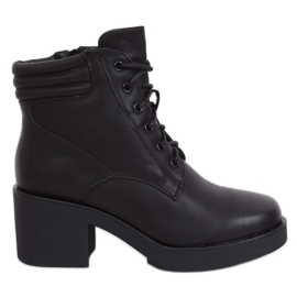 Black Boots with thick sole black 2097 Black