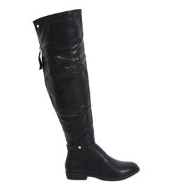 Black Thigh boots black 1943-50A Black