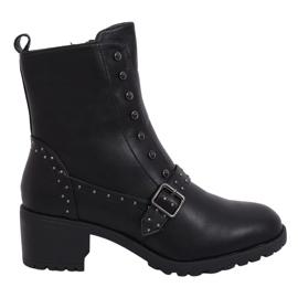 Black High-heeled black boots 1003-1 Black