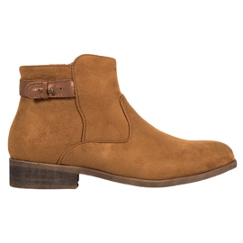 SHELOVET Boots With An Ornate Strap brown