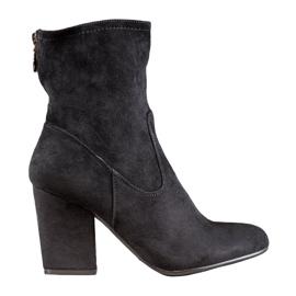 SHELOVET Black High Boots