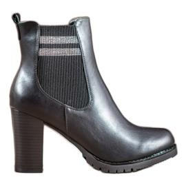 SHELOVET Black Ankle Boots