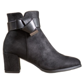 SHELOVET Elegant Boots With A Bow black
