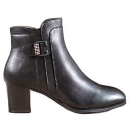 SHELOVET Elegant Boots With A Decorative Buckle black
