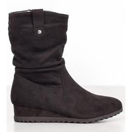 SHELOVET Cowboy Boots On Wedge black