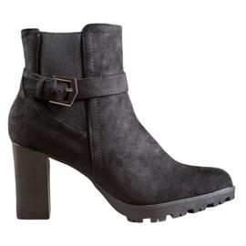 SHELOVET Suede Boots On The Platform black