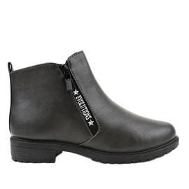 Gray flat women's boots XY-526 grey