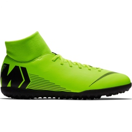 Nike Mercurial Superfly 6 Club Tf M AH7372 701 football shoes black, green green