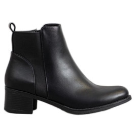 SHELOVET Classic Black Ankle Boots