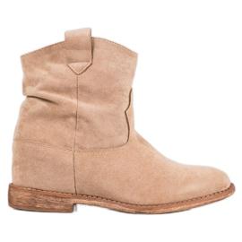 Bella Paris Cowboy Boots On Wedge