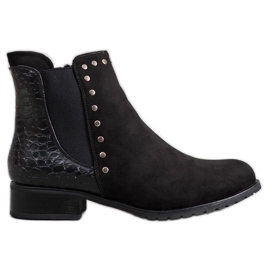 SHELOVET Fashionable Black Booties