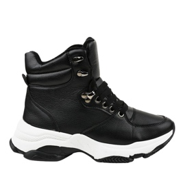 Black women's insulated sneakers C-3132