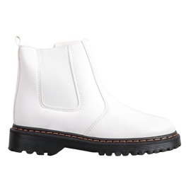 SHELOVET Jodhpur boots on the platform white