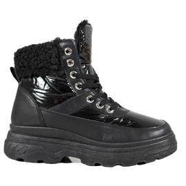 Bella Paris Sneakers with sheepskin black