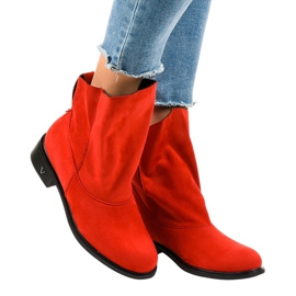 Red flat insulated boots 6672-7