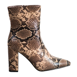 Seastar Snake Print boots brown