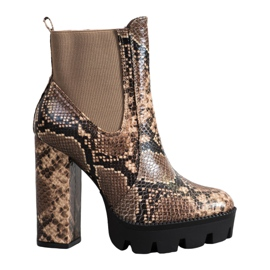Seastar High Boots Snake Print brown