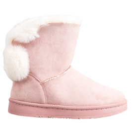 SHELOVET Warm Suede Mukluki pink